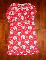 The Elf On The Shelf Girls Size M Long Sleeve Red Soft Fuzzy Christmas Nightgown