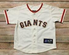 San Francisco GIANTS Majestic TODDLER 4T Jersey SEWN HOME White MLB Baseball EUC
