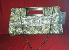 GUESS By Marciano Gray Chain Purse Or Clutch Bag
