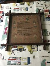 Antique Victorian Sampler Dated 1843