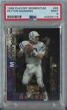 Peyton Manning 1998 Playoff Momentum Football #98 Colts RC Rookie Mint PSA 9