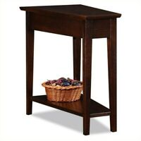 Bowery Hill Recliner Wedge Table in a Chocolate Oak Finish