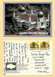 SINGAPORE VINTAGE POSTCARD STAMP 1989 GRAND SULTAN MOSQUE - SINGAPORE FREE SHIPP
