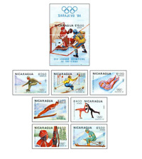 NIC8301 Winter Olympics Sarajevo 7 stamps and block