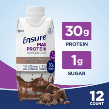 Ensure Max Protein Nutrition Shake with 30g of protein, 1g of Sugar, High Shake,