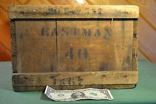 Vintage Eastman 40 (Kodak) Film Wooden Crate Wood Box  30 Doz  5 x 7 Chic Cool!