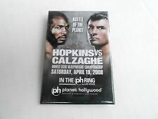 VINTAGE  PROMO PINBACK BUTTON #115-221 BOXING - HOPKINS vs CALZAGHE