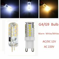 Warm White/White Silicone AC/DC12V 220V G9 LED Light Corn Light G4 Lamp SMD