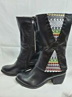 """Spring Step """"Patrizia"""" Womens Leather Boots Size 39 (8.5 US ) Color Black"""
