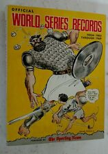 1969 Sporting News Official World Series Records 1903-1969 Amazin Mets Rare