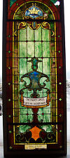 """""""The Mighty Angel Lifts His Golden Wand"""" Stained Glass Window #2"""