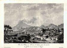 REGGIO CALABRIA, STRETTO DI MESSINA, ETNA. SAINT-NON. Bulino. Stampa Antica.1781
