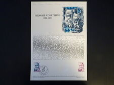 FRANCE MUSEE POSTAL FDC 23-79    GEORGES COURTELINE   1,20+0,30F   TOURS   1979