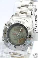 AMW-704D-7A Casio Watch White Moon Phaes Hunting Analog Digital Steel Band New