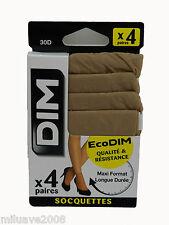 8 Pares paires calcetines socks socquettes DIM 30 D 100% Poliamida Beig