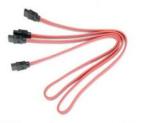 """ASUS Pack Of 2x 20"""" Red SATA II Straight to Straight Cables! [874]"""