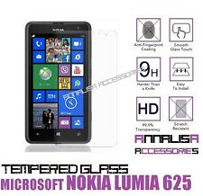 PELLICOLA IN VETRO TEMPERATO x NOKIA LUMIA 625 MICROSOFT TEMPERED GLASS DISPLAY