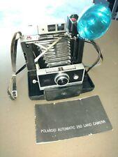 Polaroid Automatic 250 Land Camera w/ case and Flash.