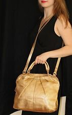 Kate Spade Five Points Camille Gold Metallic Leather Bag Satchel Crossbody Purse