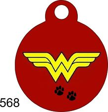 Pet Tags Dog Tags Personalized Pet Id tag for Dog and Cat Collars Wonder Woman