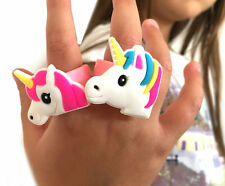 2 Girls Silicone Unicorn Rings Christmas Eve Box Stocking Party Bag Fillers Gift