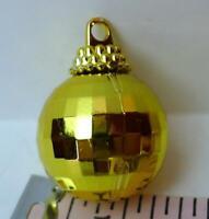 Disco Ball Ornaments miniature plastic mirrored look Lot of 10 Gold