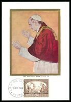 VATICAN MK 1966 POLEN PAPST PAUL POLAND POPE PAPA CARTE MAXIMUM CARD MC CM bo35
