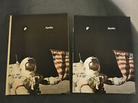 NASA APOLLO SET of 2 HARD/SOFT BACK BOOKS by RUSSELL E. CHAPPELL 63 color pages