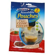 Sealapack Resealable Food Soup Bag Pouches Fill Fridge Freeze 1 Ltr Storage
