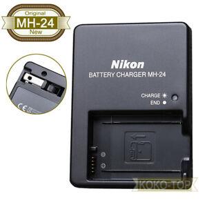 Genuine Nikon MH-24 Charger for D5300 D5600 DF D3100 D3400 D3500 P7700 EN-EL14a