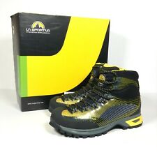 LA Sportiva TRK GTX Gore-Tex Black Yellow Climbing Outdoor Boots Size UK 7.5