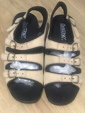 Hotter Ladies Beige Leather Strapy Sandals Size 5.5