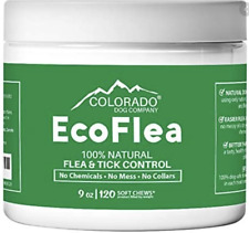 EcoFlea by ColoradoDog - 120 Count All Natural Chewable Dog Treats Flea Tick