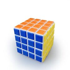 Lanlan 4x4x4 Speed Cube Tiled Twist Magic Puzzle Brain Storm Kids Toy Gift White