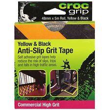 Croc Grip ANTI-SLIP GRIT TAPE 48mmx5m Self Adhesive, BLACK & YELLOW *Aust Brand