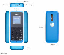 Brand New Nokia 105 SIM Free Unlocked Mobile Phone Cheap Basic Black Blue Gift