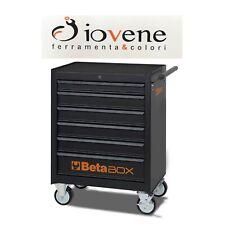 Cassettiera mobile BETA C04 BOX 6 cassetti colore nero vuoto carrello officina