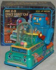 Mini X-9 Space Robot Car Toy Masudaya Corporation 4x3x2 Inches Tinplate Japan