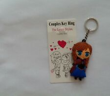 New Anna Frozen Keychain Soft Rubber Keyring Double Sided - UK Seller!