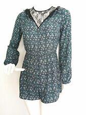 ECOTE jumpsuit paysuit romper size S --BRAND NEW-- long sleeve lace detail