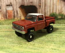 1973 Chevy K10 4x4 Truck Lifted 1/64 Diecast Custom Auto World Farm Square Body