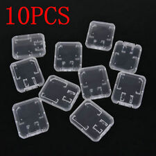 10PCS Transparent Standard SD SDHC Memory Card Case Holder Box Storage Plastic