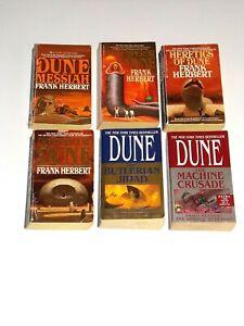 Dune Chronicles Frank Herbert lot of 6 Vintage Books