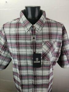 Blackhawk Tactical Vented S/S Shirt Mens 3XL Purple Gray Black Plaid NWT $78
