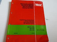 DEUTZ-ALLIS Driven Front Axels, 4180, APL 345, APL 350 Workshop Manual