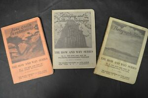 (3)Vintage - 1938 - The Galleon Publishers Photography Books, No.1, No.2, & No.8
