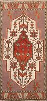 1'x3' Geometric Authentic Oushak Turkish Oriental Runner Rug Hand-knotted Carpet