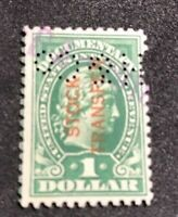 us stamps scott RD11 Used Hole Punch Cancel
