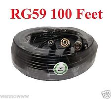 Heavy Duty Hd-Sdi Rg59U Video Bnc Male to Male with 2.1x5.5mm Power Cable 100ft
