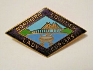VINTAGE NORTHERN COUNTIES LADY CURLERS SPORTS CURLING PIN